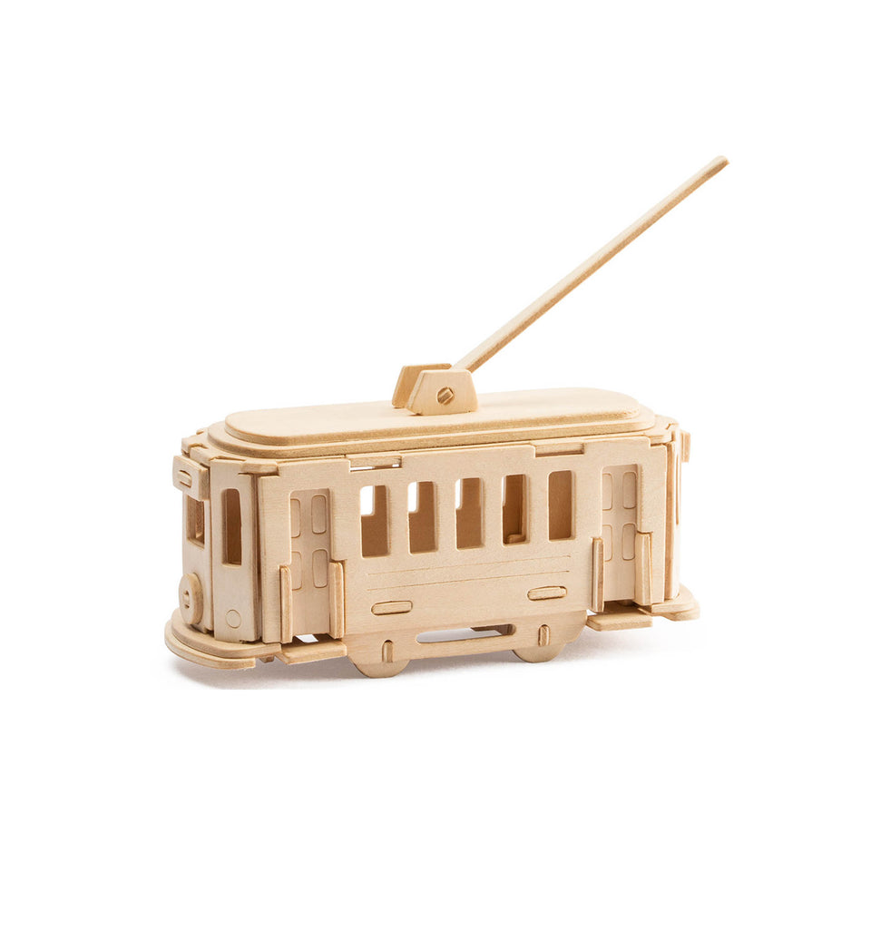 Hands Craft JP268 DIY 3D Wooden Puzzle: Trolley bus