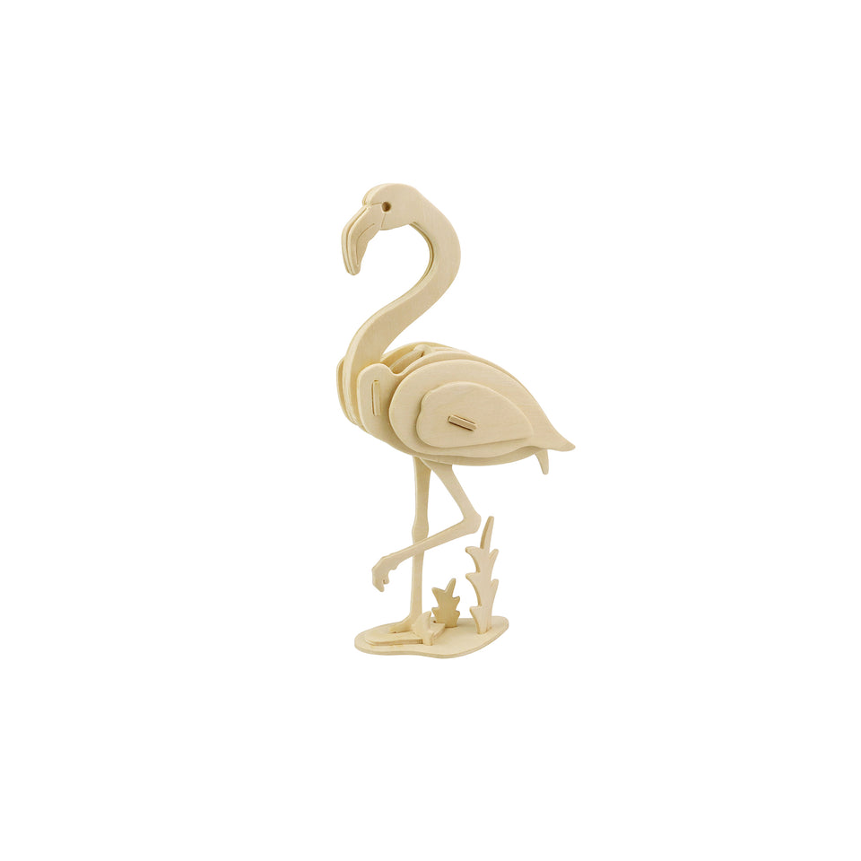 Hands Craft JP269 DIY 3D Wooden Puzzle: Flamingo