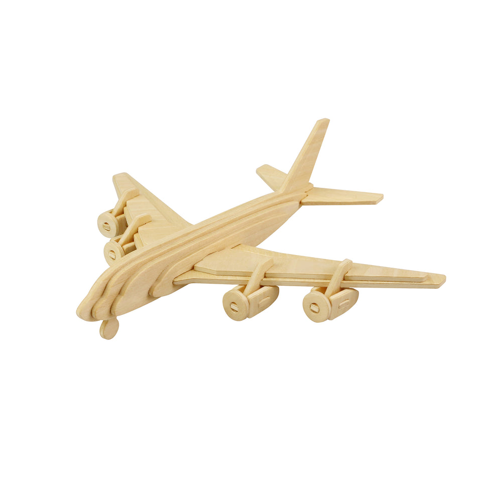 Hands Craft JP270 DIY 3D Wooden Puzzle: civil airplane