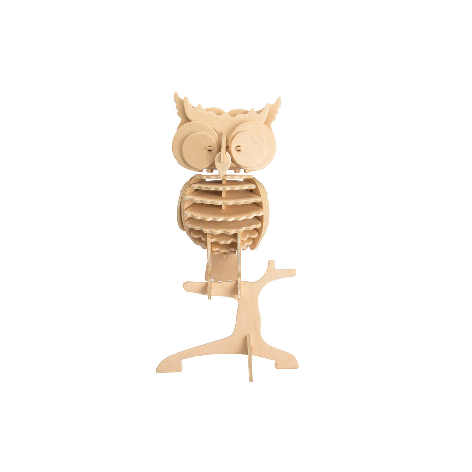 Hands Craft JP273 DIY 3D Wooden Puzzle: Owl
