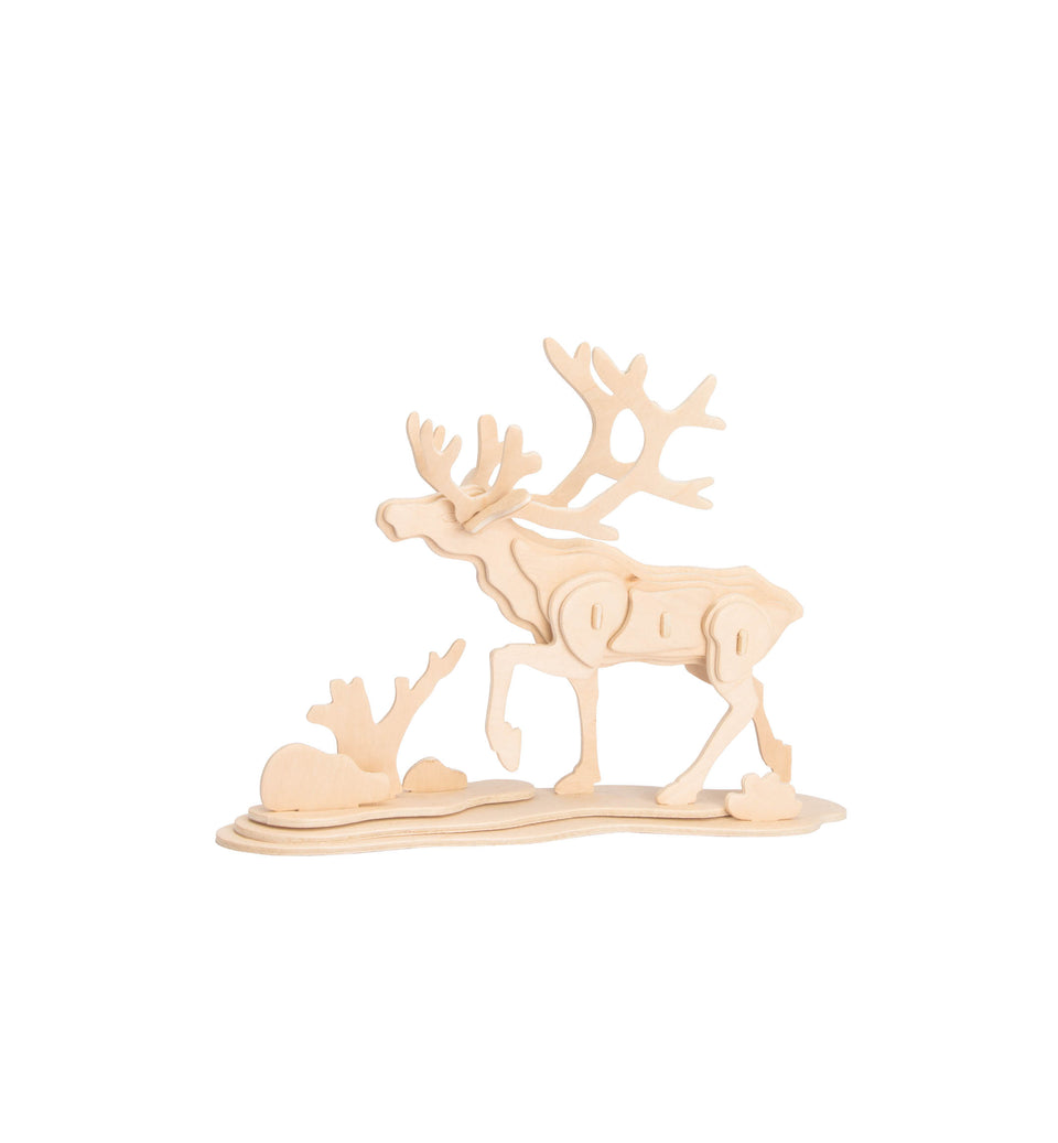 Hands Craft JP274 DIY 3D Wooden Puzzle: Reindeer