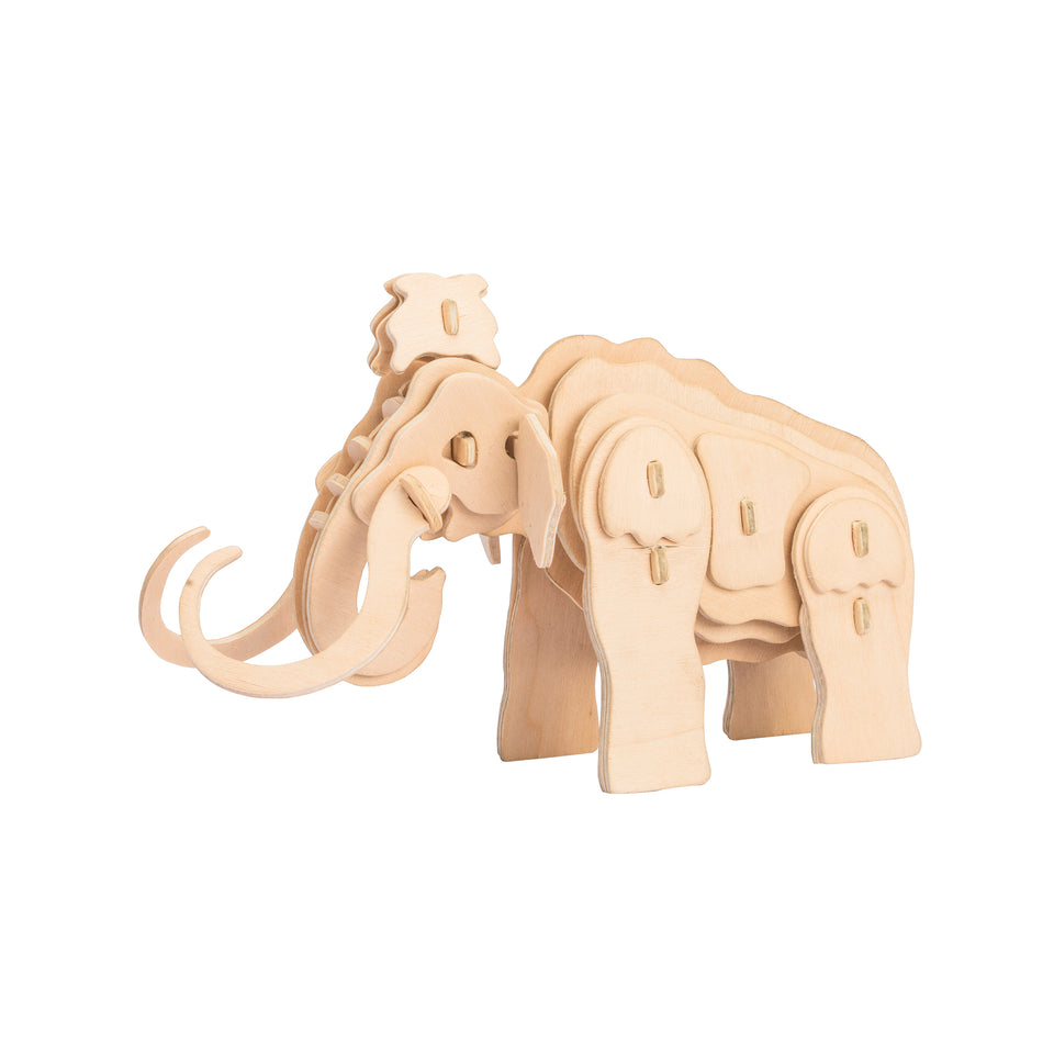 Hands Craft JP275 DIY 3D Wooden Puzzle: Mammoth