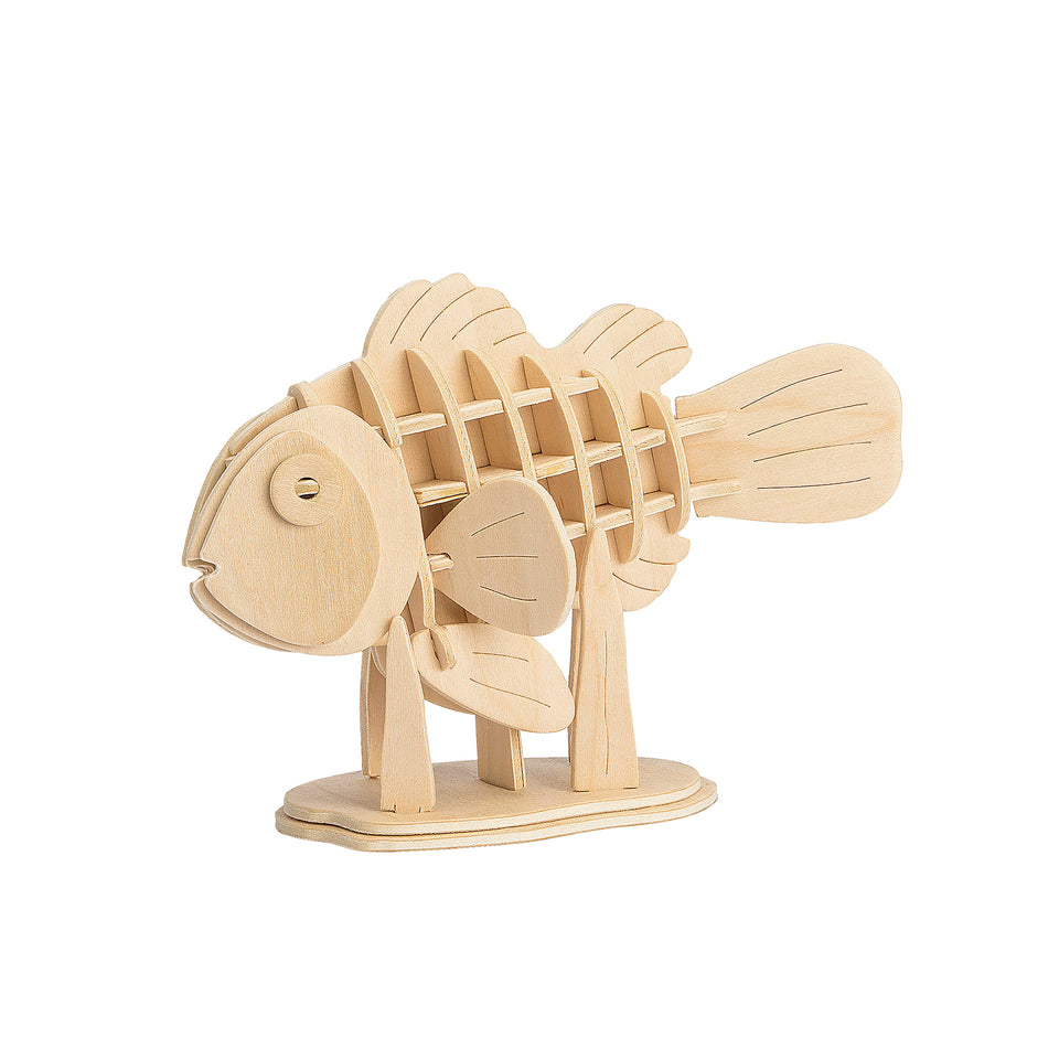 Hands Craft JP278 DIY 3D Wooden Puzzle: Clownfish