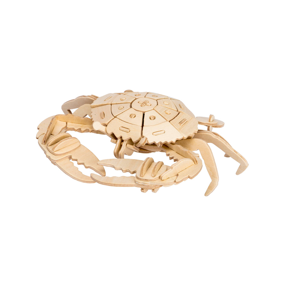 Hands Craft JP279 DIY 3D Wooden Puzzle: Crab