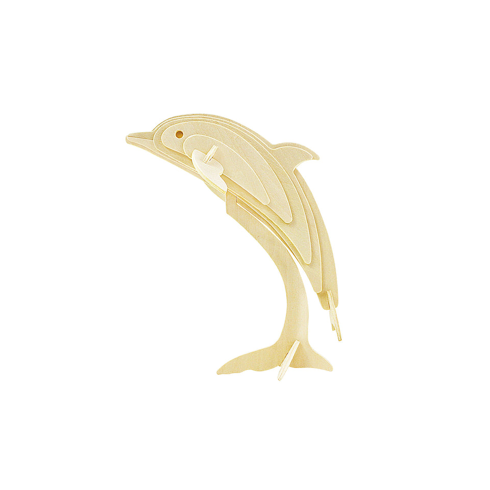 Hands Craft JP296 DIY 3D Wooden Puzzle: Dolphin