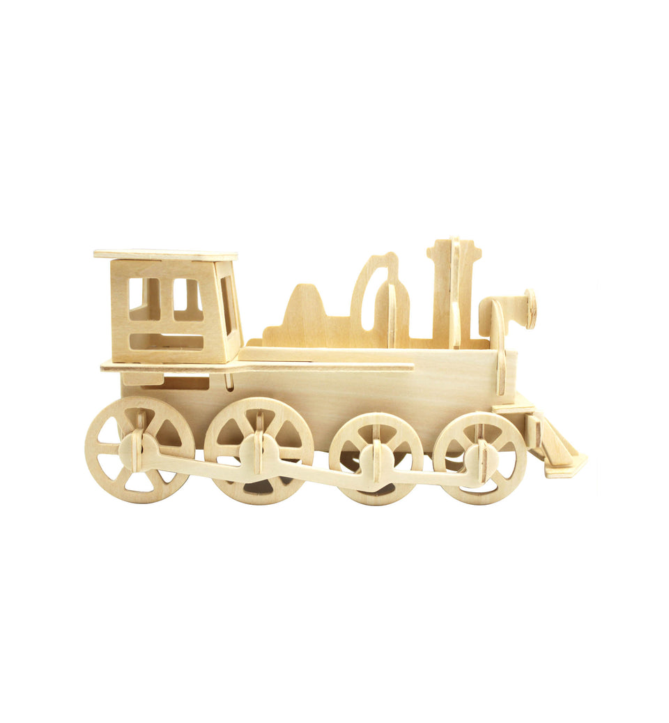Hands Craft JP302 DIY 3D Wooden Puzzle: Train Engine