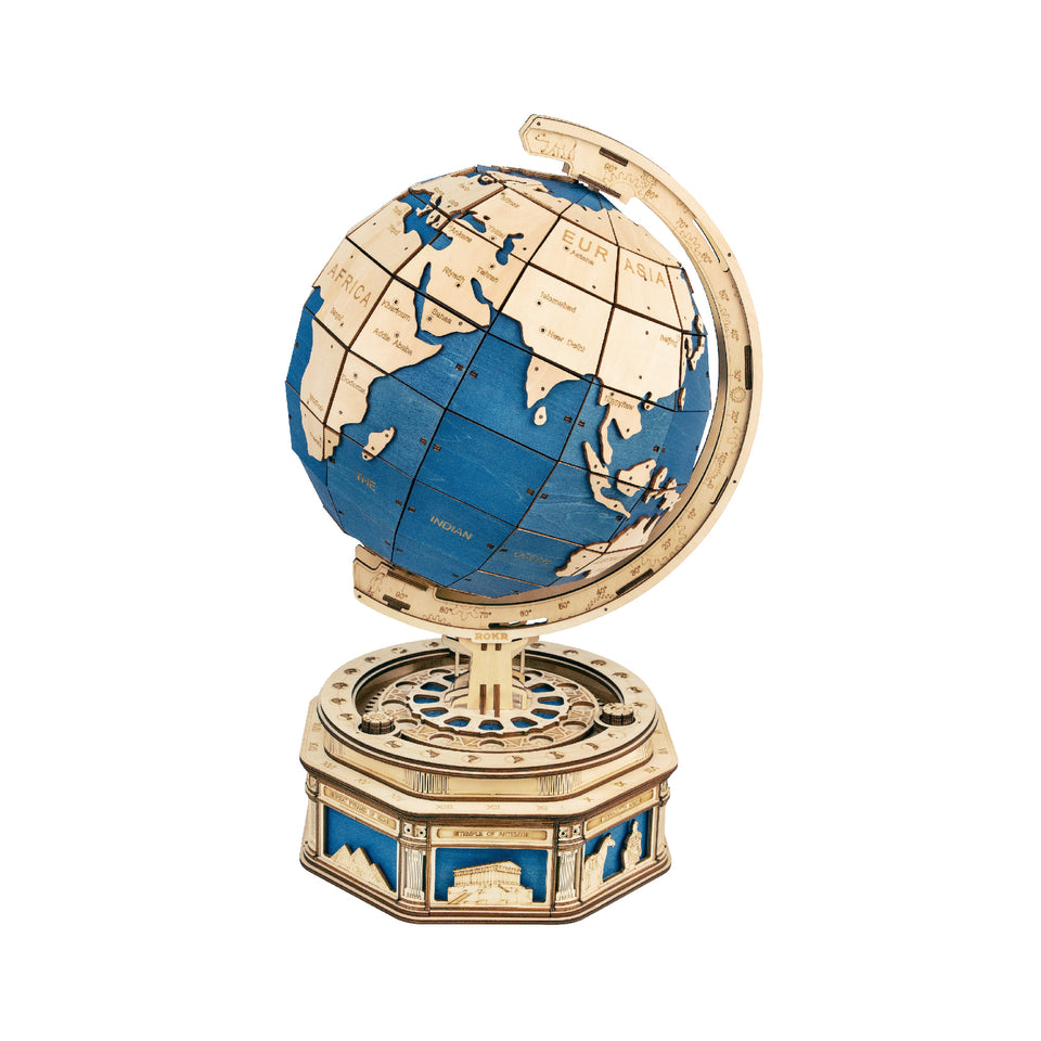 DIY 3D Wooden Puzzle Globe Earth Model