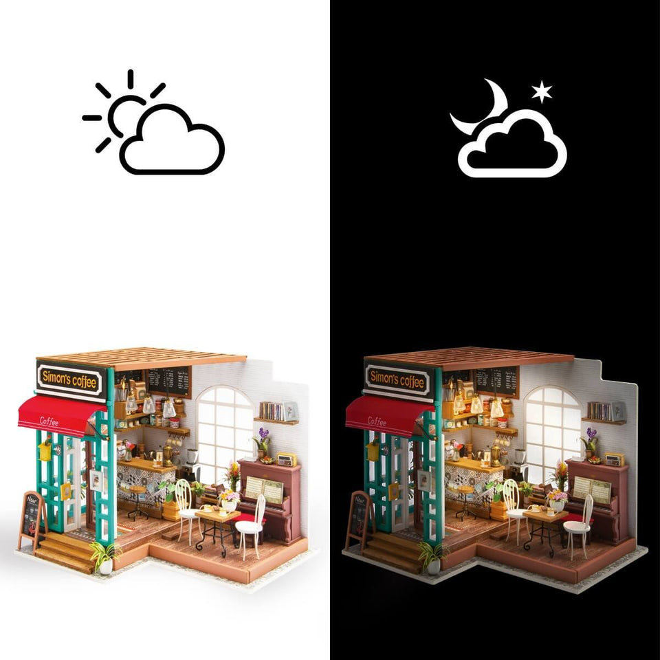 DG109 DIY 3D Wooden Puzzle Miniature House: Simon's Coffee