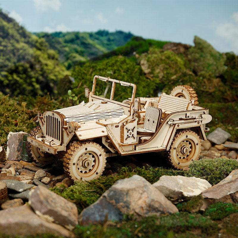 MC701, DIY 3D Wooden Puzzle: Army SUV