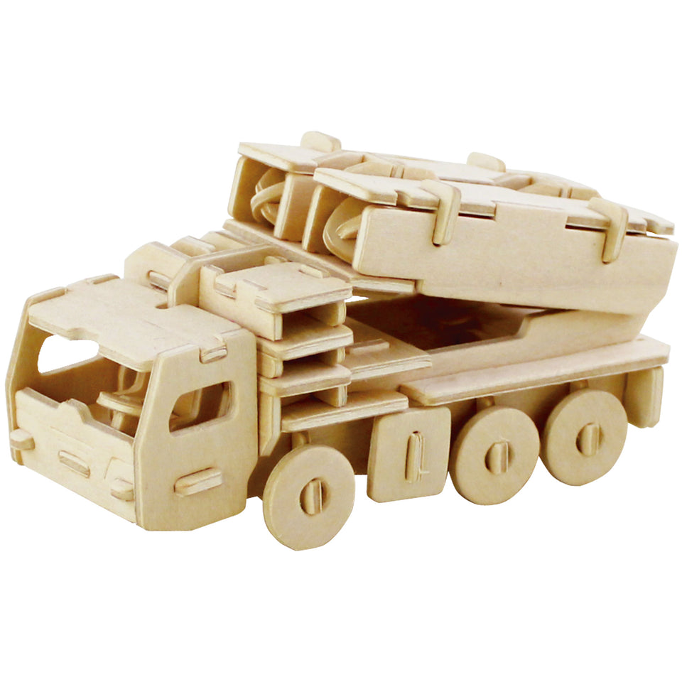 DIY 3D Wooden Puzzle 6ct Military Vehicle Bundle Set