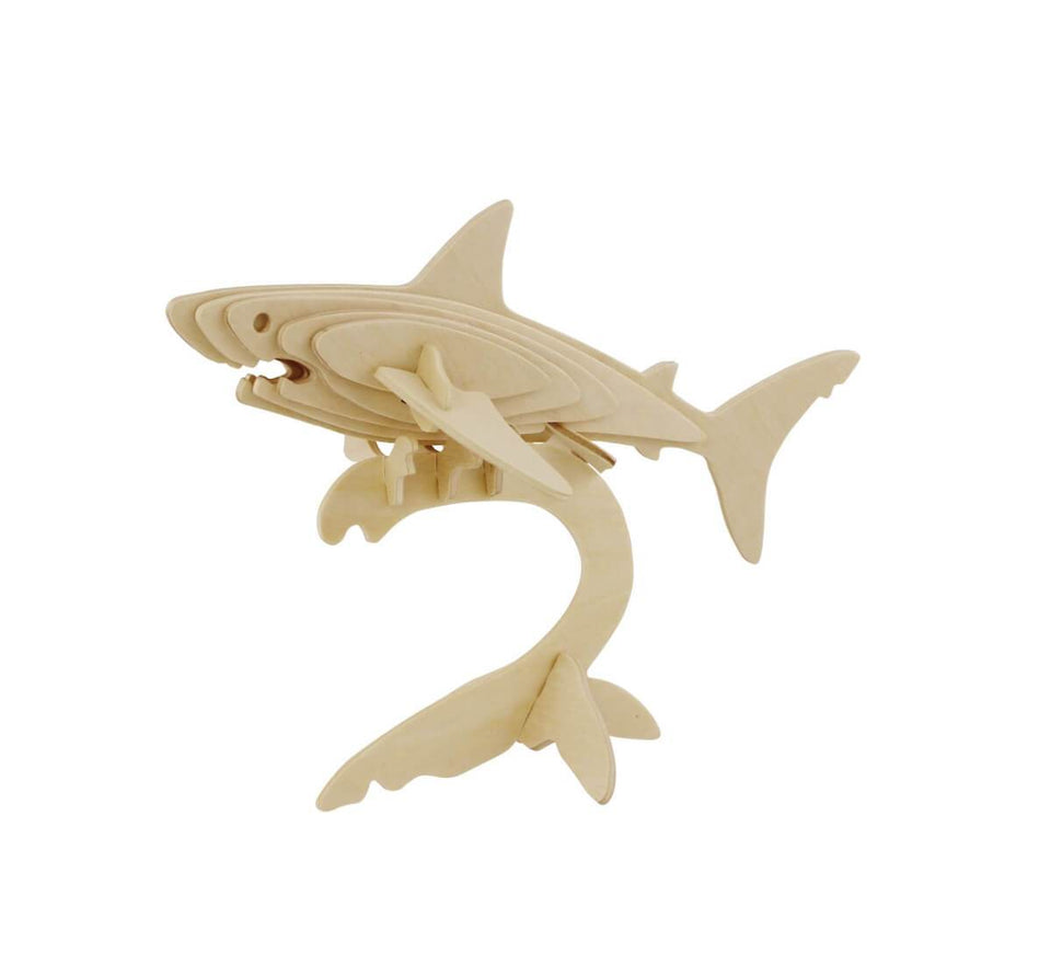 DIY 3D Wooden Puzzle: Shark (JP229)