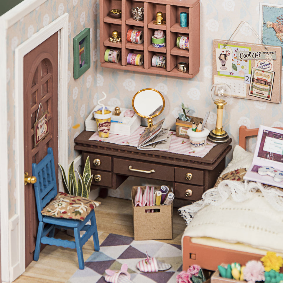 DGM08, DIY 3D Wooden Puzzle Miniature House: Anne's Bedroom