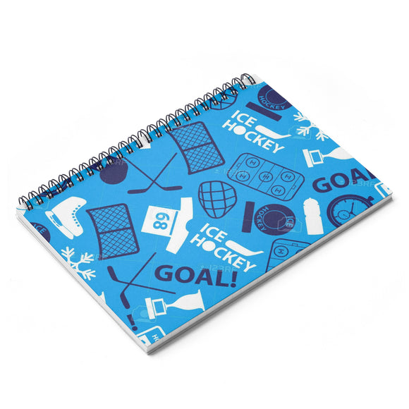 Hockey Spiral Notebook - Ruled Line