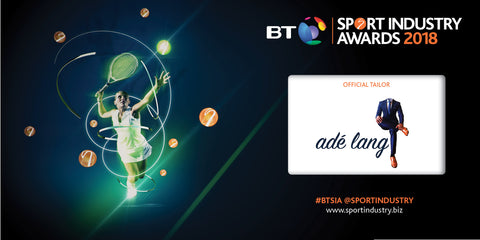 Adé Lang Official Tailor of BT Sports Industry Awards 2018