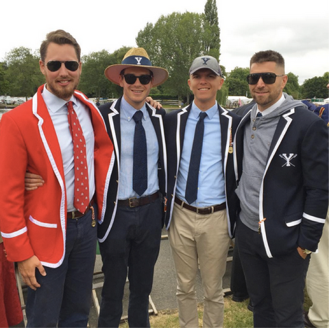 Yale Crew Coaches in Adé Lang Regatta Blazers at HRR17
