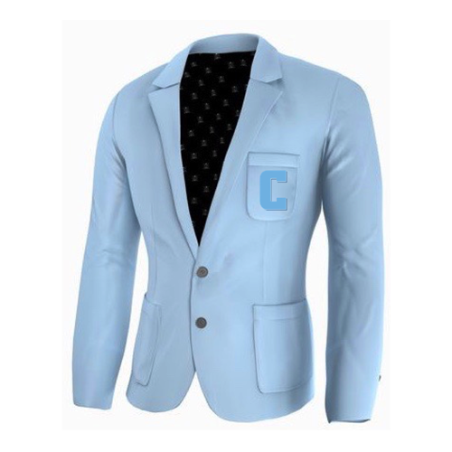 Adé Lang Columbia University Legacy Blazer - Light Blue with Embroidered C
