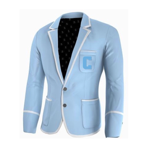 Adé Lang Columbia University Legacy Blazer - Light Blue with White edging and Embroidered C