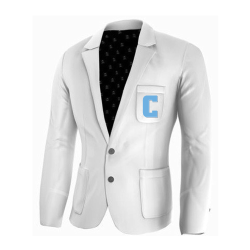 Adé Lang Columbia University Legacy Blazer - White with Embroidered C