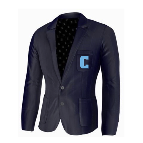 Adé Lang Columbia University Legacy Blazer - Navy Blue with Embroidered C