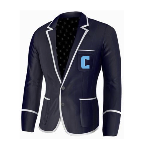 Adé Lang Columbia University Legacy Blazer - Navy Blue with White edging and Embroidered C