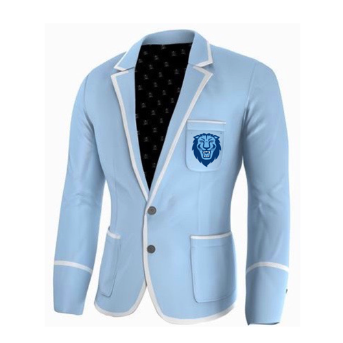 Adé Lang Columbia University Legacy Blazer - Light Blue with White edging and  Lion Head Embroidery