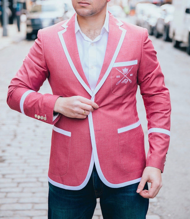 Adé Lang Faded Red Regatta Blazer with White Edging