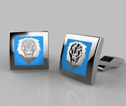 Columbia Lion Head Cufflinks