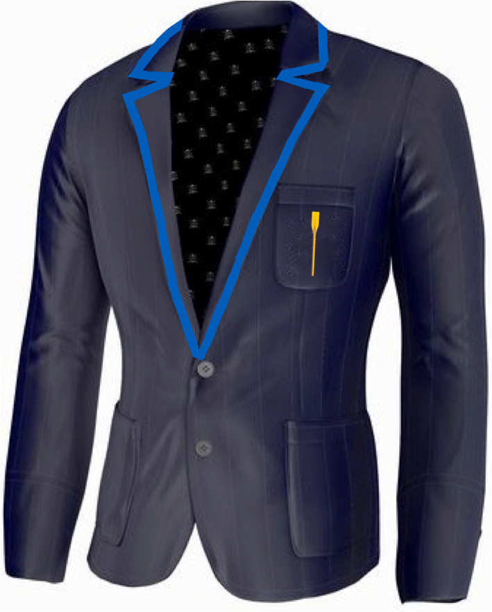 Drexel University Rowing Blazer By ade lang