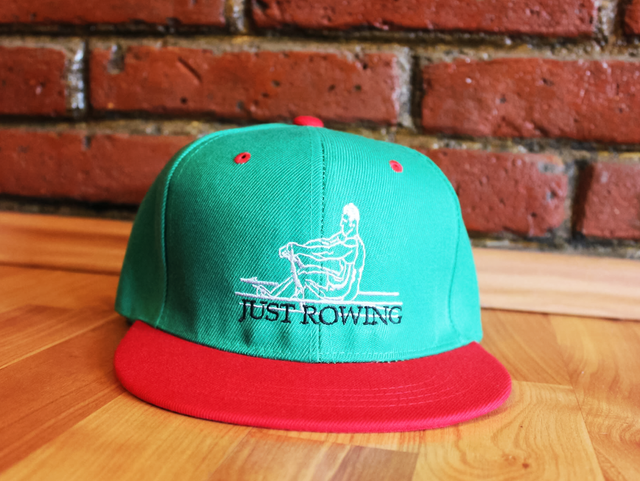 Embroidered Just Rowing Green hat