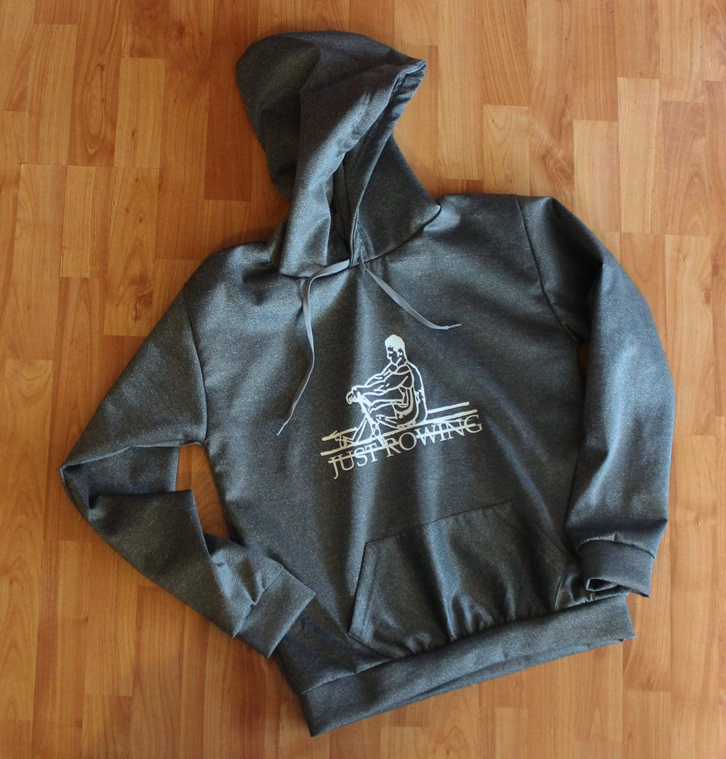Grey Just Rowing hoodie sweatshirt