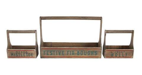 Festive Fir Boughs Planters (set of 3)