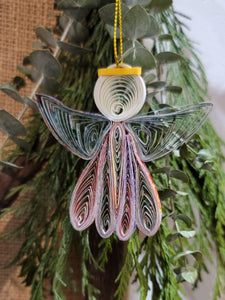 Ornament, Quilled Angel