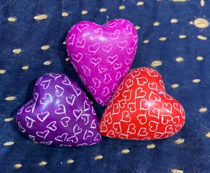 Kisii Stone Heart, set of 3