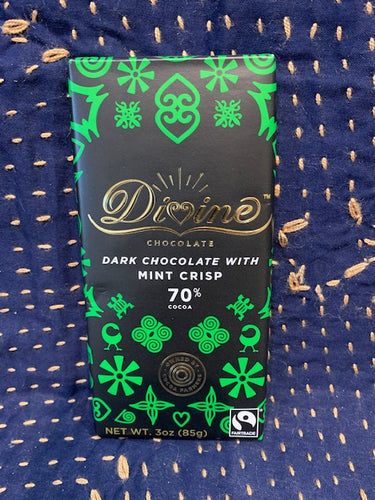 Divine Chocolate: Dark Chocolate with Mint Crisp 70%