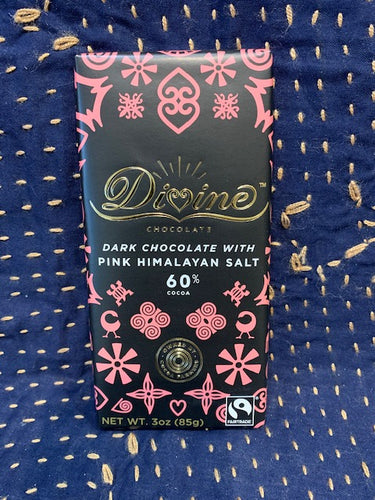 Divine Chocolate: Dark Chocolate with Pink Himalayan Salt 60%