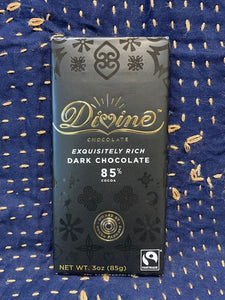 Divine Chocolate: Exquisitely Rich Dark Chocolate 85%
