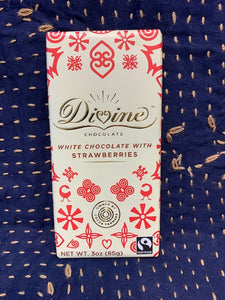 Divine Chocolate: White Chocolate with Strawberries