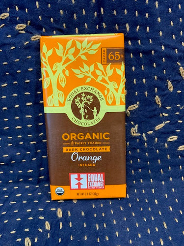 Equal Exchange Chocolate: Orange Infused 65%