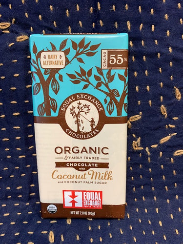 Equal Exchange Chocolate: Coconut Milk and Coconut Palm Sugar 55% Vegan
