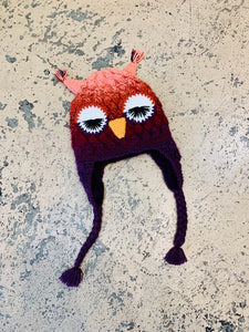 Adult Animal Hat: Pink Owl