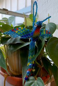Ornament: Beaded Hummingbird