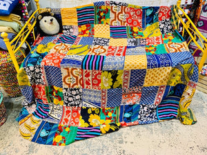 Quilt, King Sari Patchwork 2