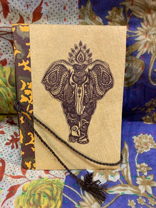 Elephant Blockprint Journal