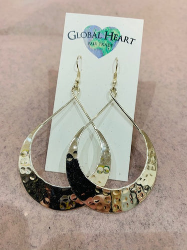 Earrings, Lunar Crescent Slv