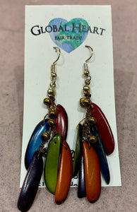 Earrings, Tagua Slices