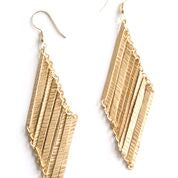 Earrings, Layered Lines