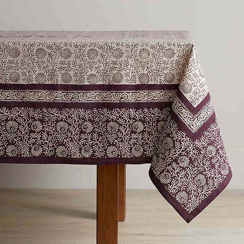 Tablecloth: Aubergine Wildflower