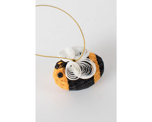Ornament, Quilled Paper Bumblebee