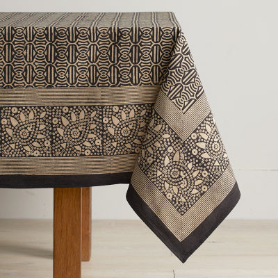 Tablecloth: Geo Blockprint