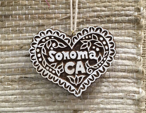 Ornament: Sonoma Block Print